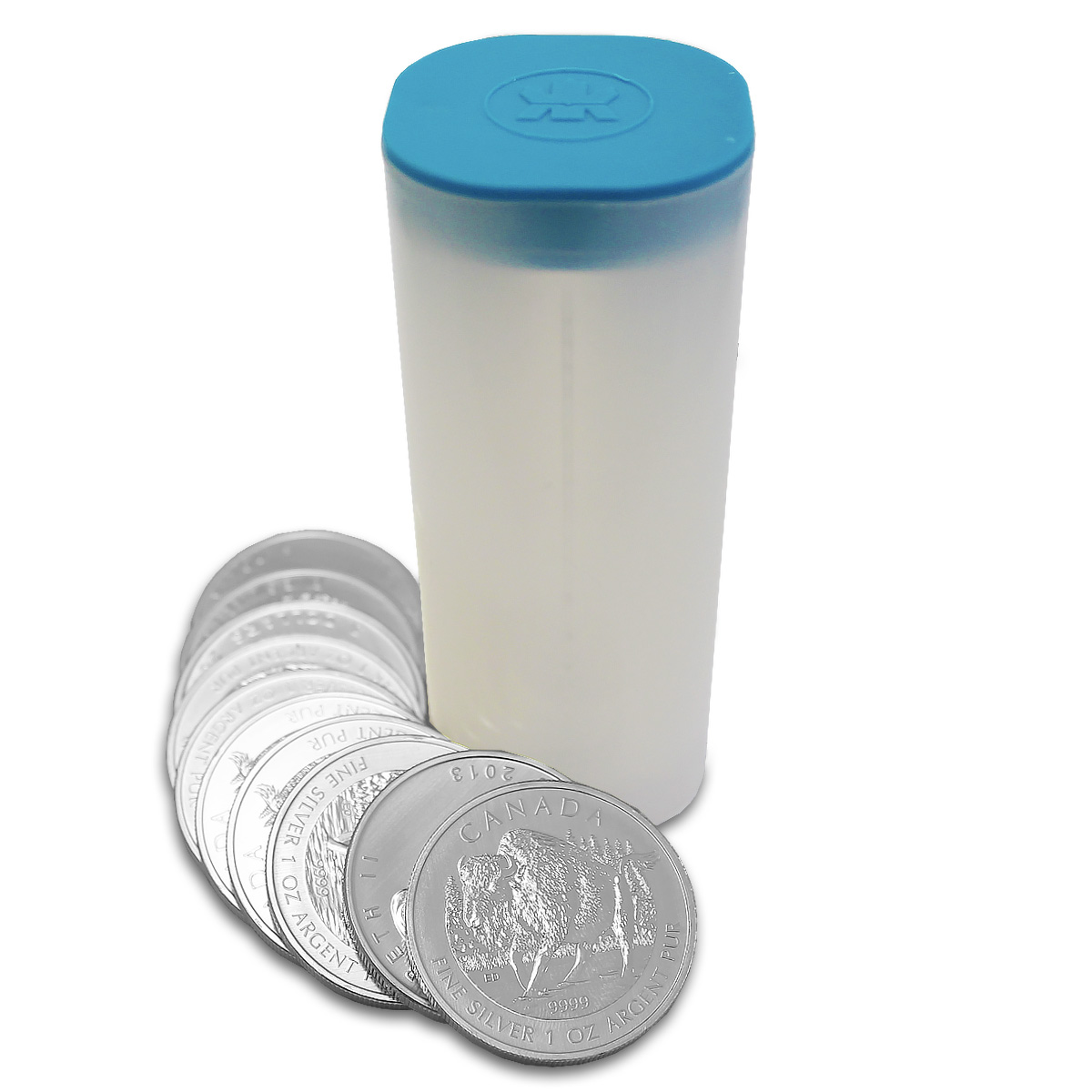 Canadian Bison Silver Coin Tube 20x Silver Bison Coins