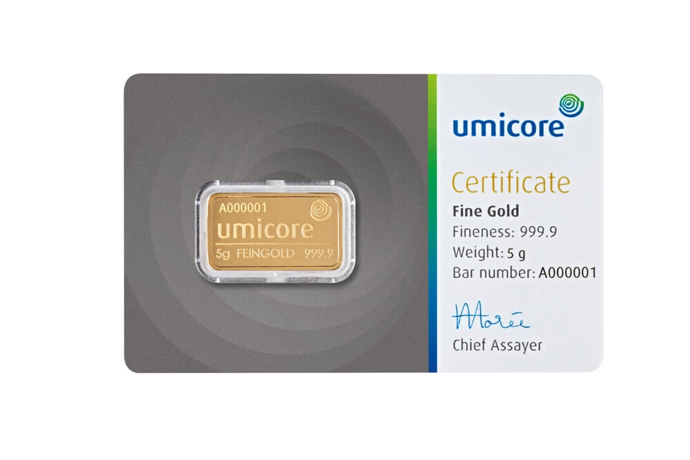 5g Gold Bar - Umicore Certified
