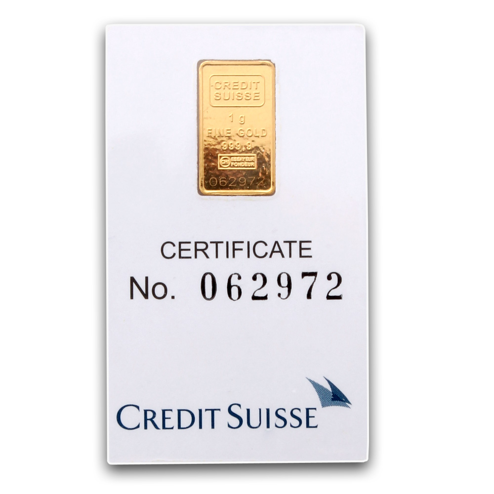 Credit Suisse 1 Gram Gold Bar Buy Credit Suisse Gold Bars
