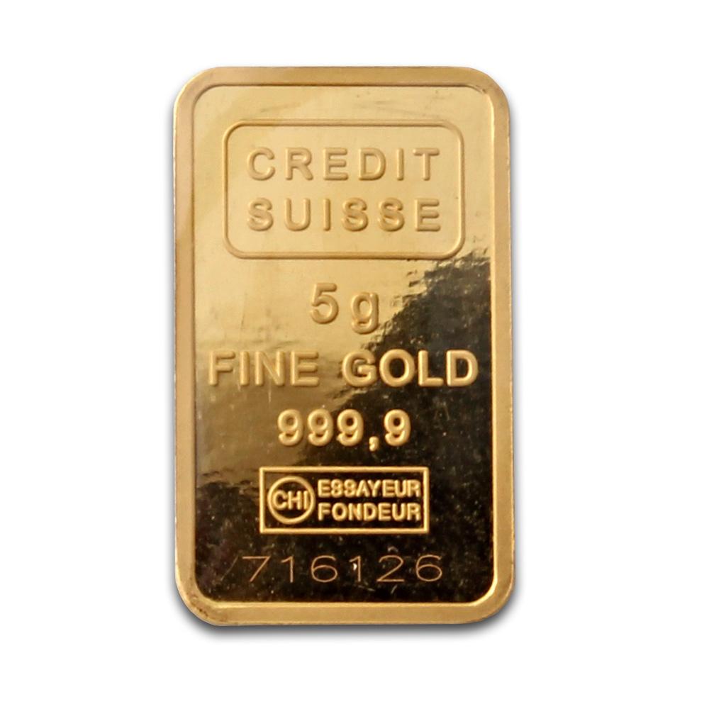 Credit Suisse 5 Gram Gold Bar Buy Credit Suisse Gold