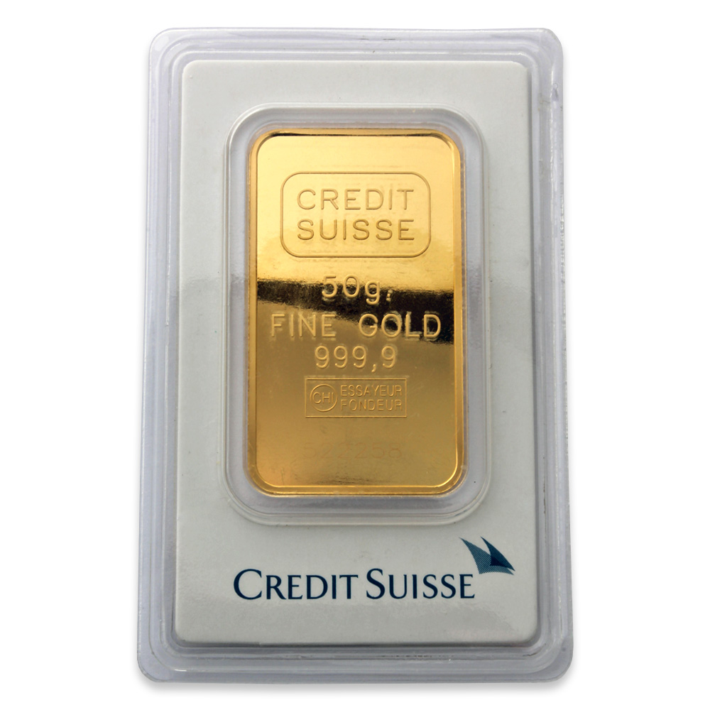 Credit Suisse 50 gram Gold Bar