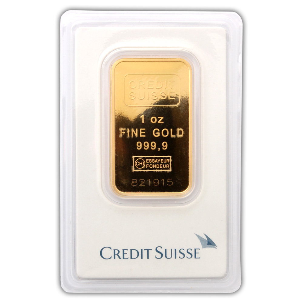 Credit Suisse 1 Oz Gold Bar Buy Credit Suisse One Ounce