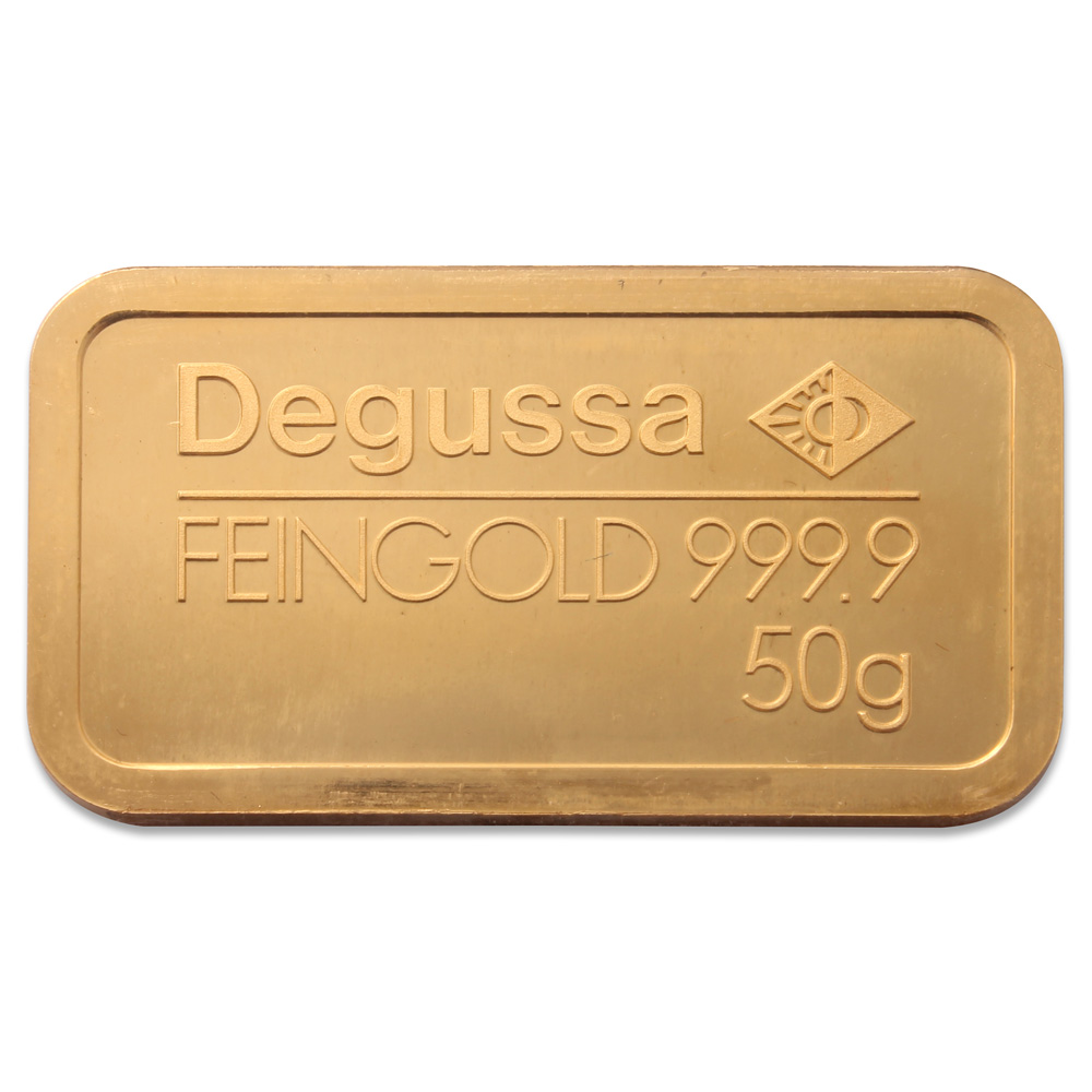 Degussa 50g Gold Bar