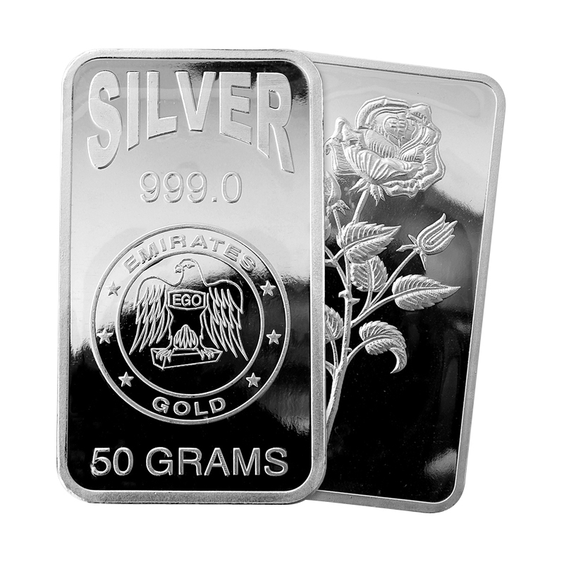 Emirates 50 gram Silver Bar
