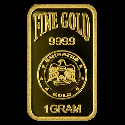 Emirates Gold 1 Gram Blister Pack 1 Gram Gold Bar Gold