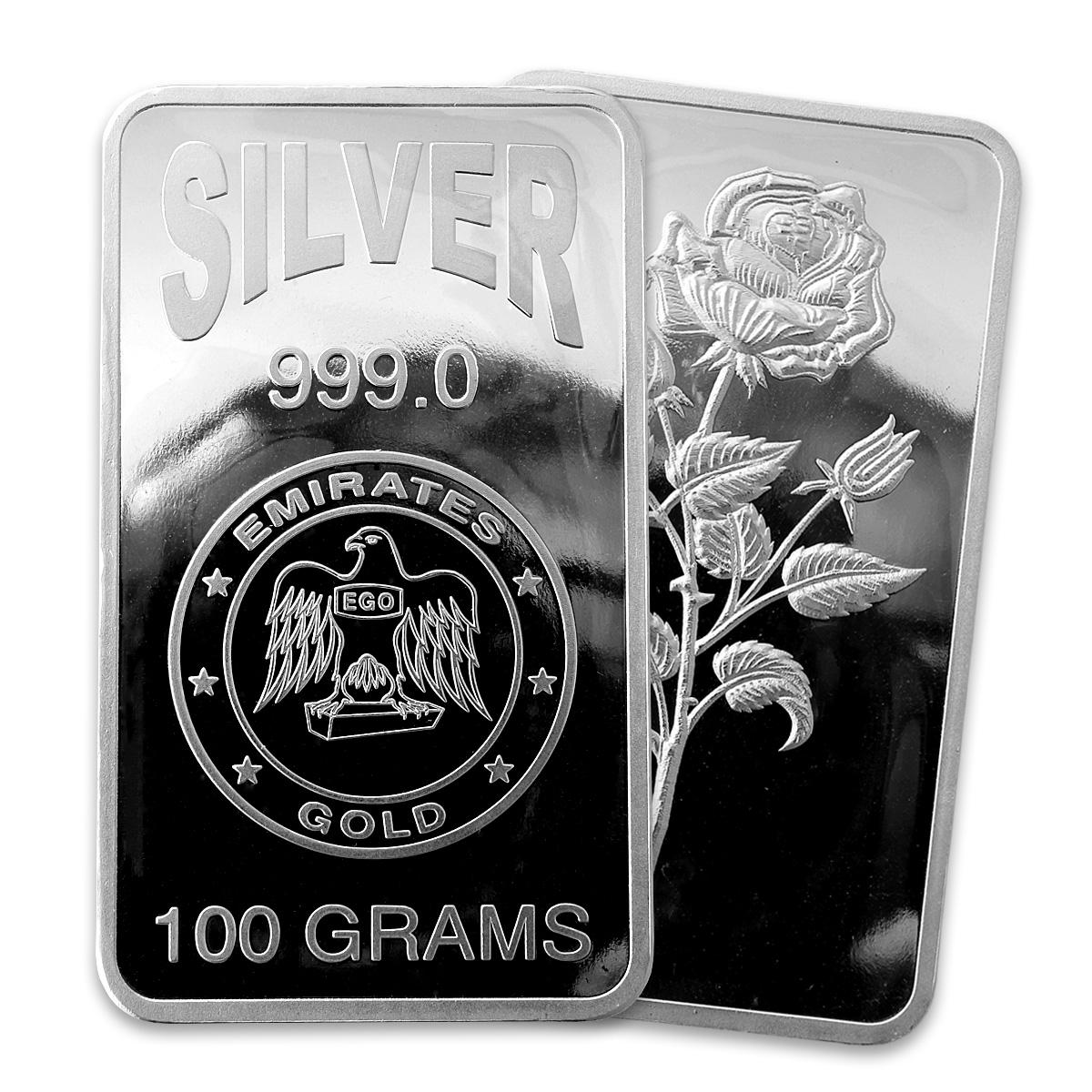 Emirates 100 Gram Silver Bar Emirates Silver Bullion