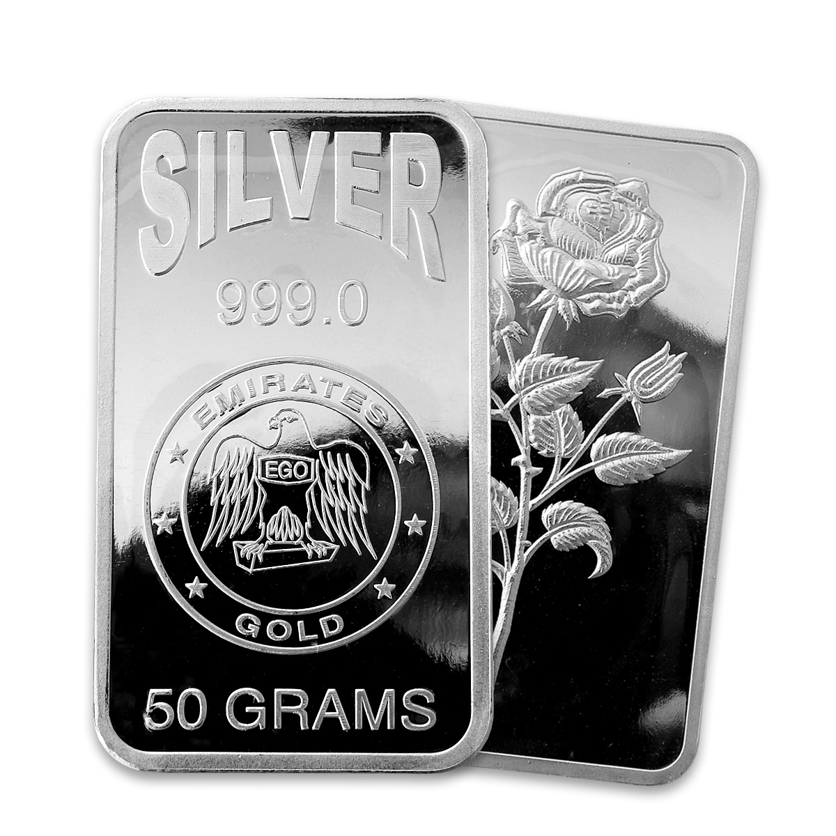 Emirates Silver 50 Gram Bar Emirates Silver Bars Gold
