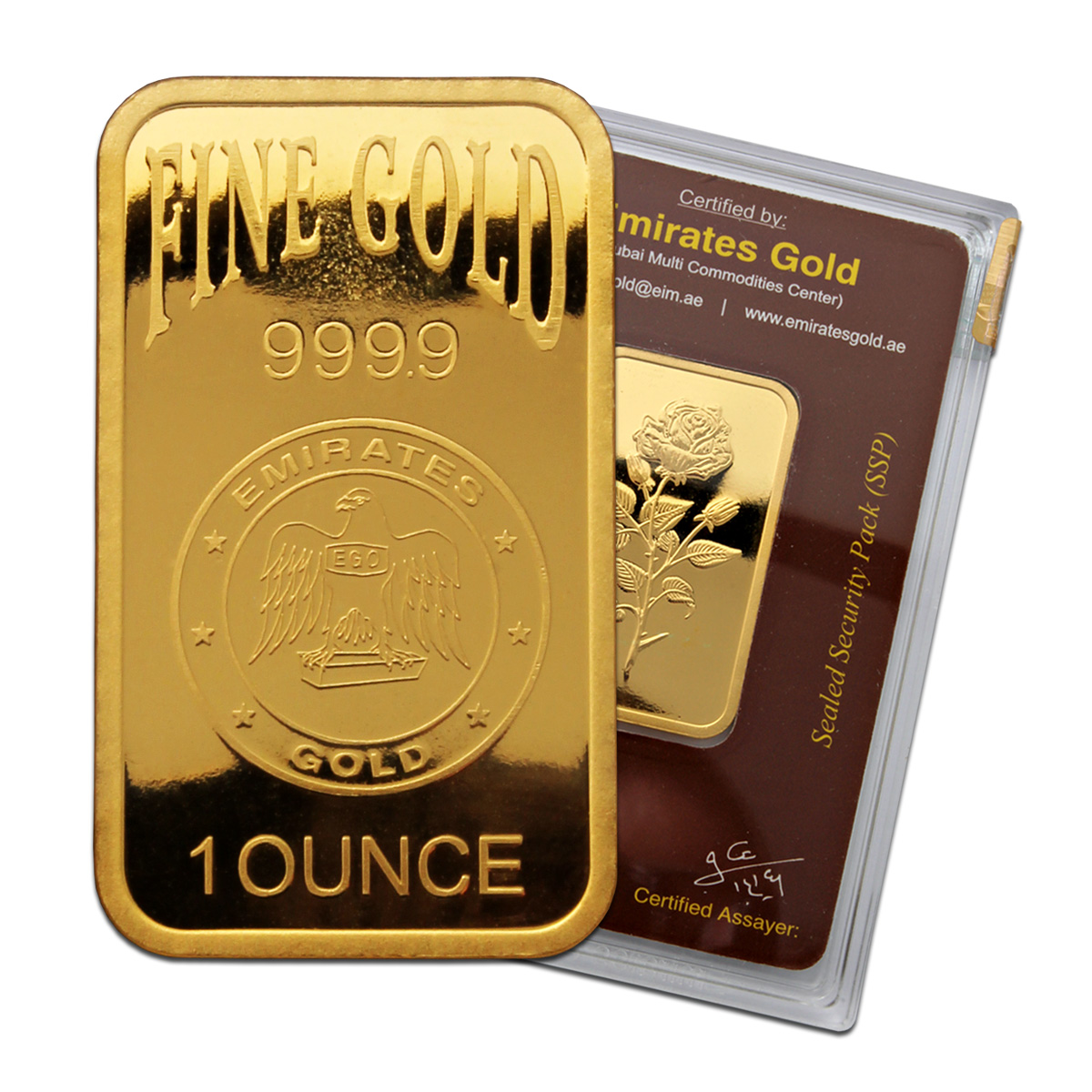Emirates Gold 1 Ounce Gold Bar Emirates Gold Bullion
