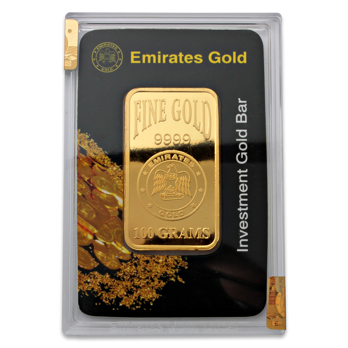 100g Gold Bar - Emirates Gold Boxed Certified