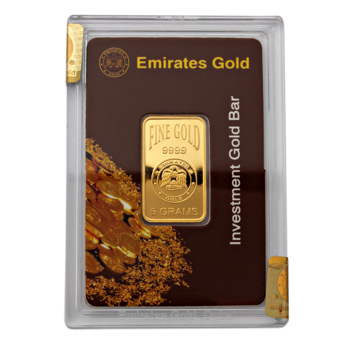 Emirates Gold 5 Gram Gold Bar Emirates Gold Bullion Bars