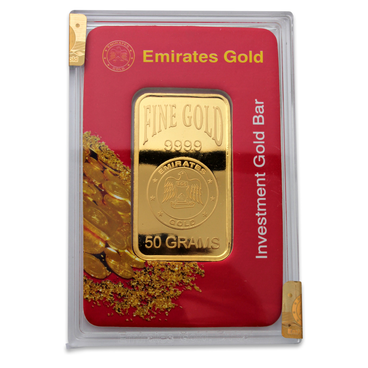 Emirates Gold 50 Gram Gold Bar Emirates Gold Bars Gold