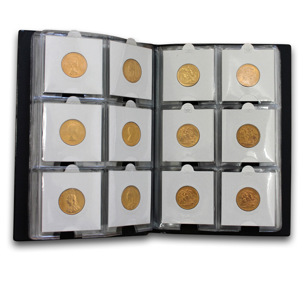 60x 2015 Gold Sovereigns with Coin Wallet