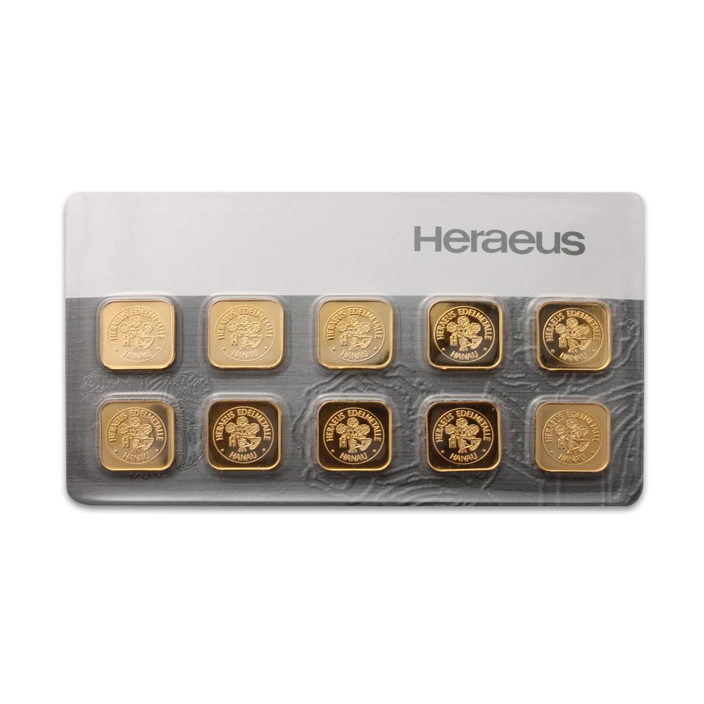 Heraeus 10g Multi Pack Bar Gold Bullion Co