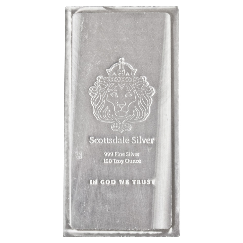Scottsdale 100oz Silver Bar