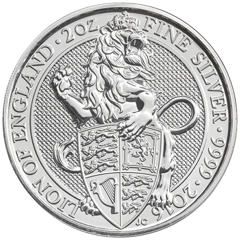 Queens Beast Lion 2oz Silver Coin