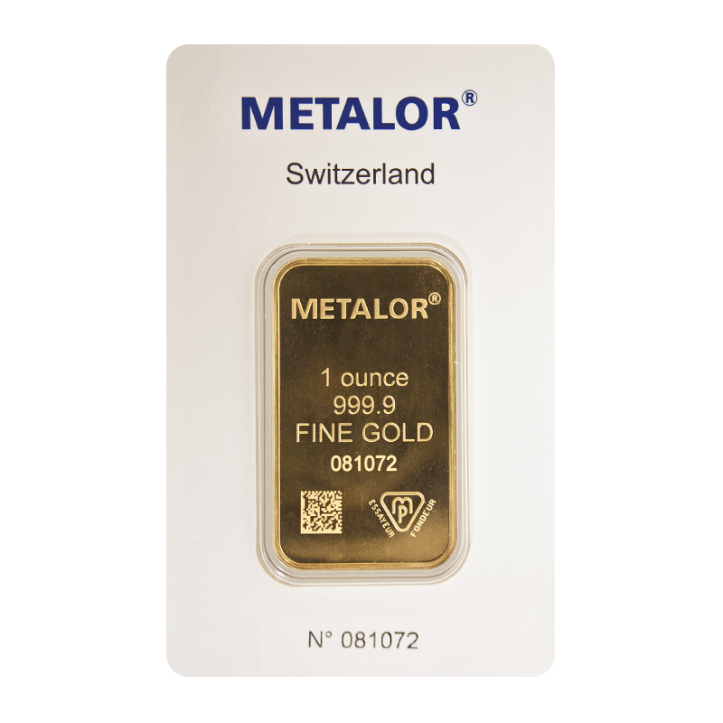 Metalor Gold Bar Free Insured Next Day Delivery Gold