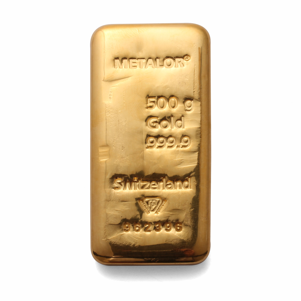 500 Gram Gold Bar Half Kilo 500g Gold Bullion Bar