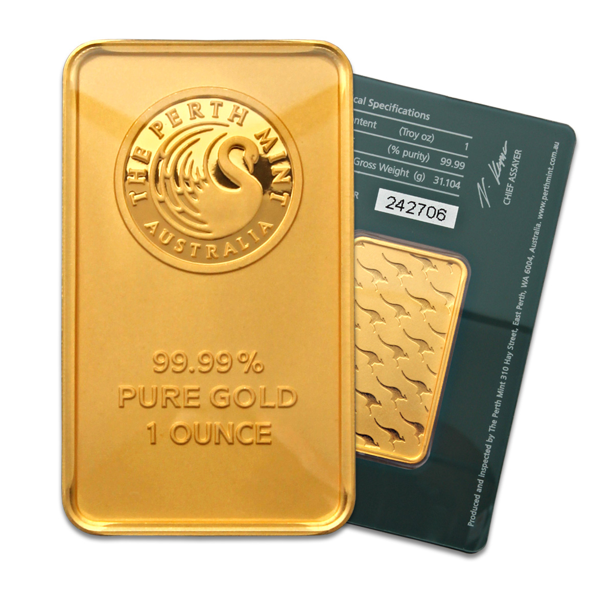 Perth Mint 1 Oz Gold Bar Buy Perth Mint One Ounce Gold Bars