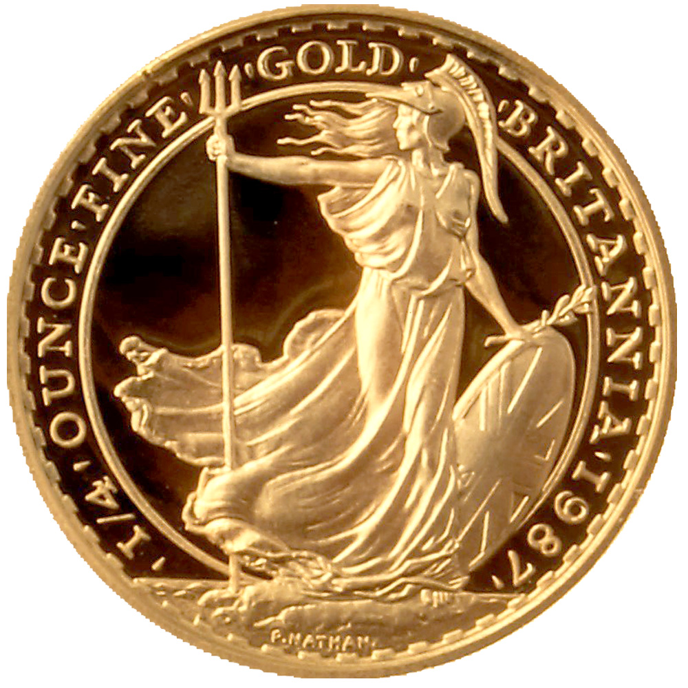 1987 Proof Gold Britannia 1 4oz Gold Bullion Co