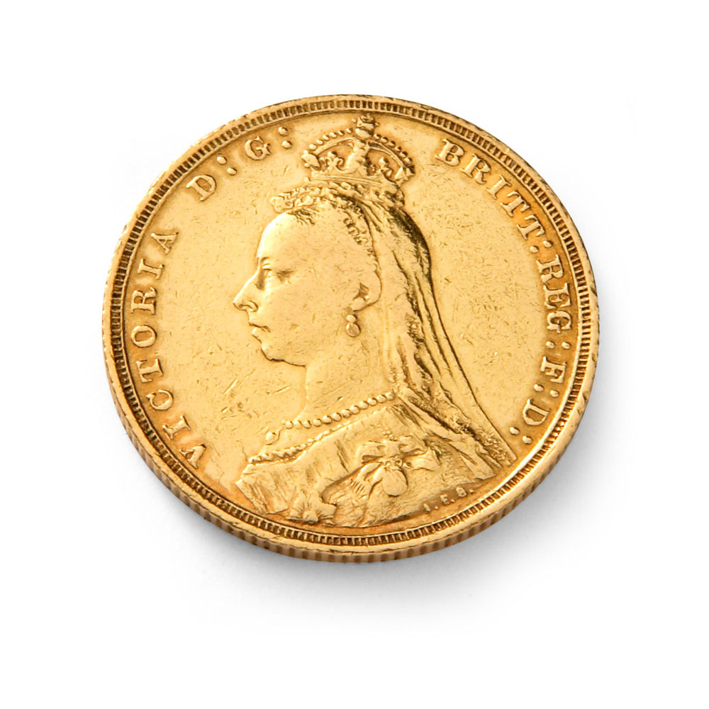 Queen Victoria Jubilee Head Gold Half Sovereign Coin