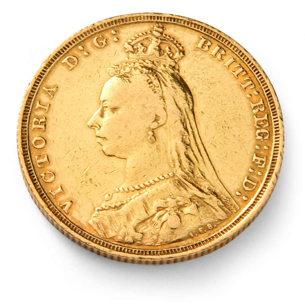 Queen Victoria Jubilee Head Gold Sovereign Coin Gold