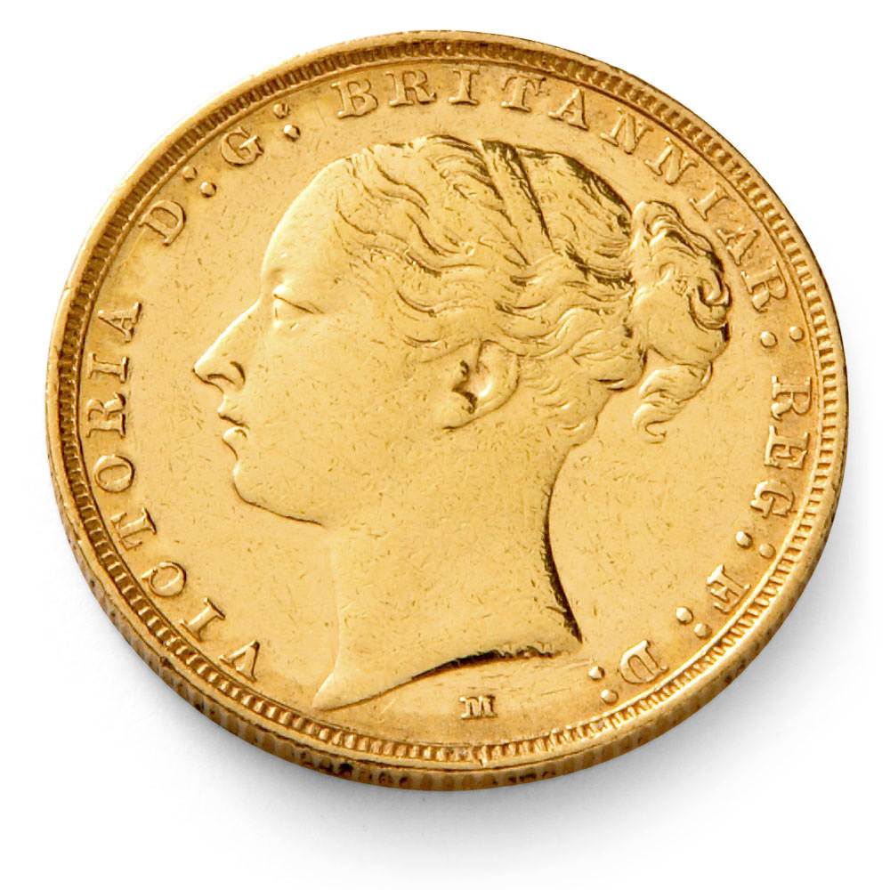 Queen Victoria Gold Sovereign Coin Young Head Gold