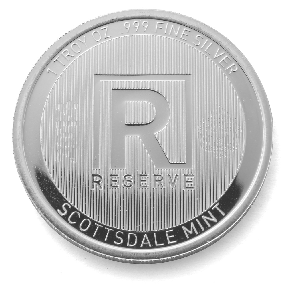 Scottsdale 1oz Reserve Silver Round 999 Fine From Bar Scootsdale The One Mint In Arizona Usa