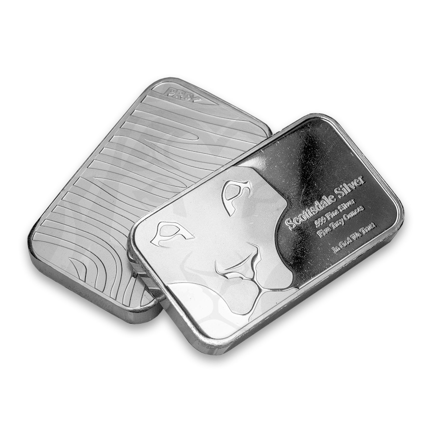 5 Oz Silver Bar Scottsdale 5 Ounce Silver Bullion