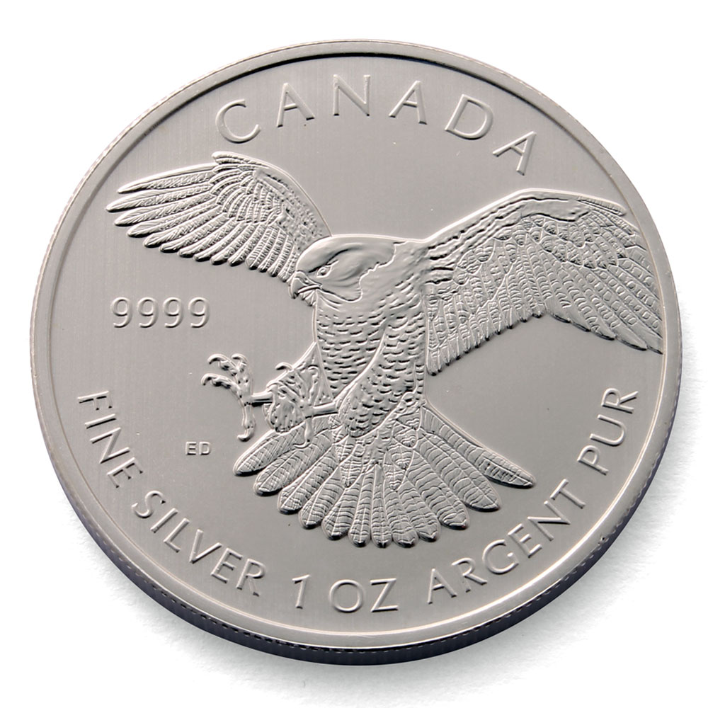 Peregrine Falcon 1oz Silver Coin Canadian Silver Coins