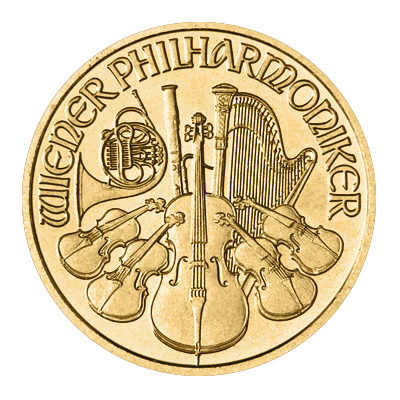Austrian Philharmonic 1/10 oz Gold Coin (Mixed Year)