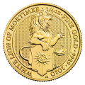 2020 1/4oz White Lion of Mortimer Gold Coin - Queen's Beast Collection