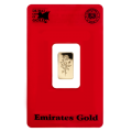 Emirates 1 Gram Certicard Gold Bar