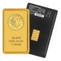 1g Gold Bar - Perth Mint Black Certicard