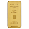 1kg Gold Bar - Baird & Co Minted Certified