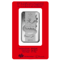 PAMP Lunar Dragon 1oz Silver Certicard Bar