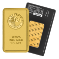 1oz Gold Bar - Perth Mint Black Certicard