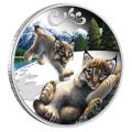 Perth Mint 1/2 Ounce Lynx Cubs Silver Proof Coin