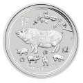 2019 Lunar Pig 1oz Silver Coin - Perth Mint