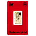 1 Tola Gold Bar - Emirates Gold Certicard