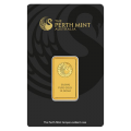 10g Gold Bar - Perth Mint Black Certicard