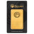 100g Gold Bar - Perth Mint Black Certicard