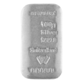 Metalor 100 Gram Cast Silver Bar