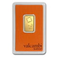 10g Gold Bar - Valcambi Certified