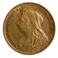 1897 Queen Victoria Gold Sovereign Melbourne