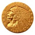 1913 Indian Head US $5 Gold Coin