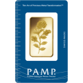 PAMP 1 Ounce Certicard Rosa Gold Bar
