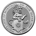 2020 Queen's Beasts White Lion of Mortimer 2oz Silver Coin