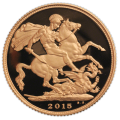 Full Sovereign 2015 British Proof Gold Coin