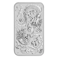 2020 Double Dragon 1oz Rectangular Silver Coin
