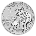 2021 1/2 oz Lunar III Ox Silver Coin - Perth Mint